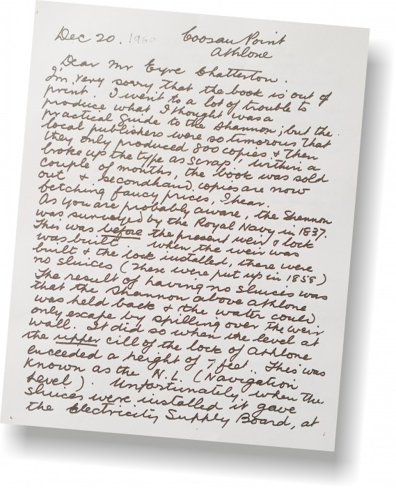Insights… Personal letters from Harry Rice to Eyre Chatterton