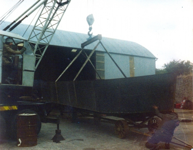 42 Lowtown boatbuilding - hull complete © Conroy Collection