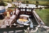 20 Lowtown Lock in the 1970s, Essie Conroy Lock keeper (Clare Co Library)