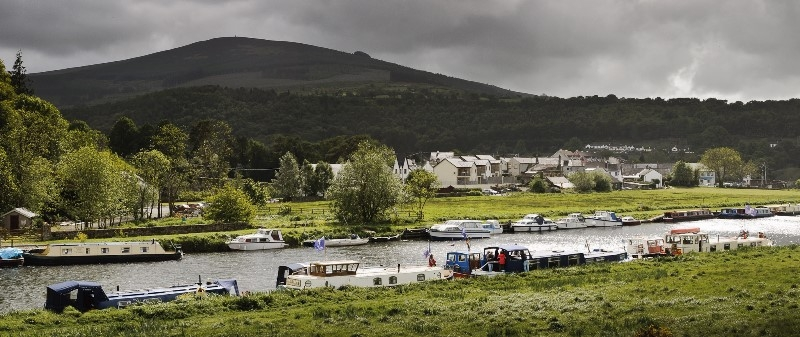 2011 0509 Barrow River Graiguenamanagh with Brandon Hill in the background by Conor Nolan 18BE