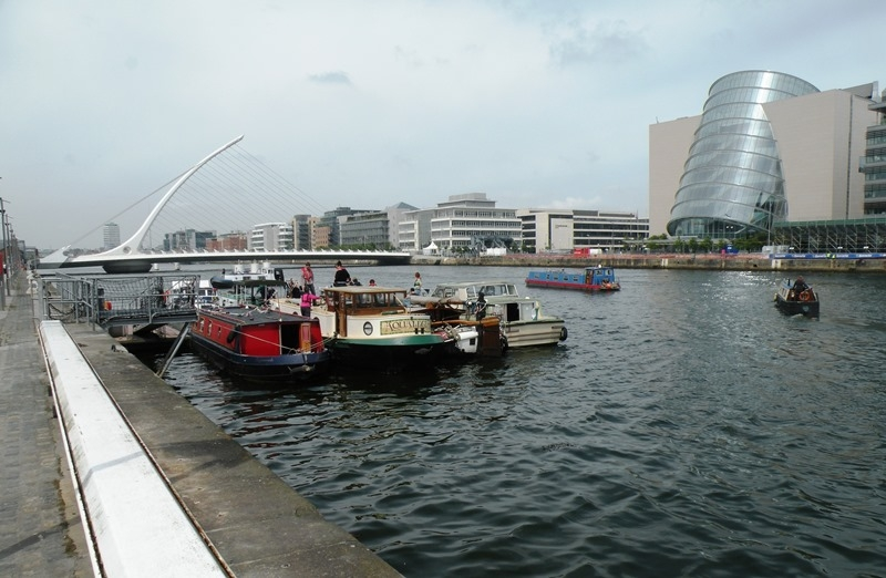 2012 0602 River Liffey boats waiting to cross into Spencer Dock by Declan Woolhead DSCN3446