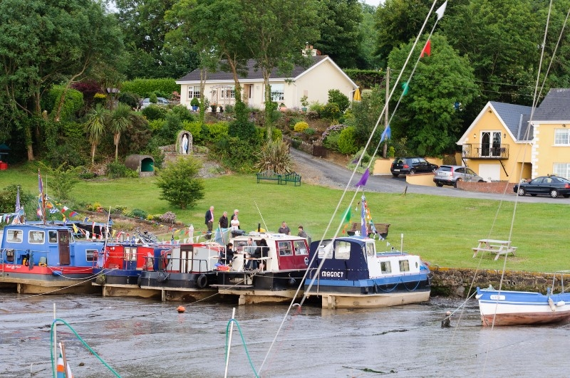 2011 0628 Suir River Cheekpoint boats moored in fishing harbour by Conor Nolan E93933B