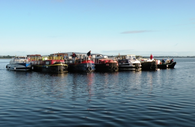2012 0826 Lough Ree canal boats abreast by D Woolhead
