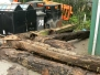 Removing the Remains of the Gates at Cambells Lock