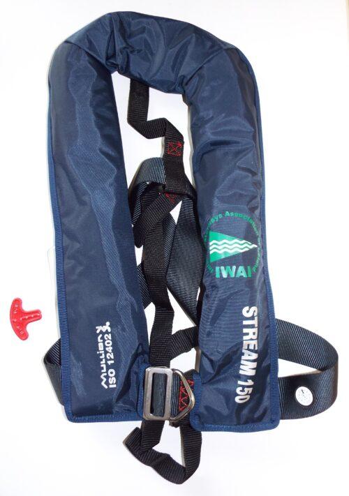 Mullion Blue Lifejacket IWAI Logo