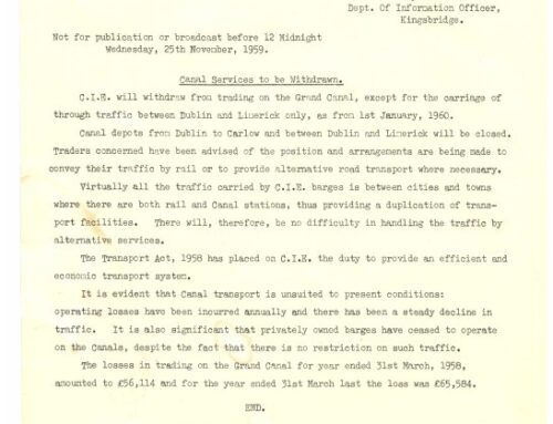 60th Anniversary of the issue of Grand Canal Closure memo
