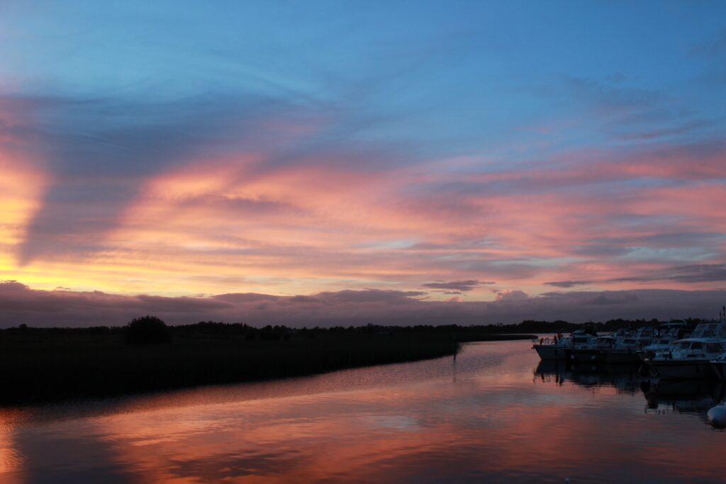 Sunset on the inland waterways